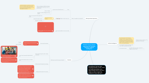 Mind Map: Rethink moving abroad experience for students based on artificial intelligence