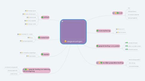 Mind Map: stage ervaringen