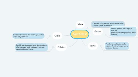 Mind Map: Sentidos: