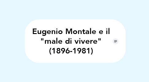 """Mind Map: Eugenio Montale e il """"male di vivere"""" (1896-1981)"""