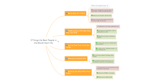 Mind Map: 5 Things the Best People in the World Don't Do