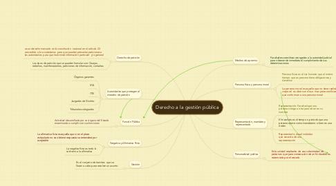 Mind Map: Derecho a la gestión pública