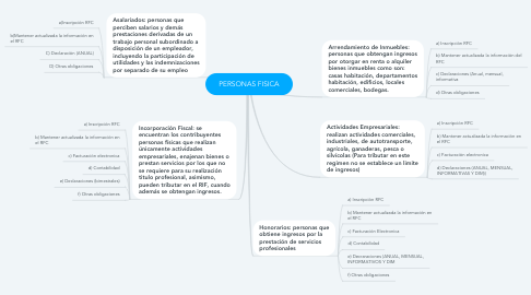 Mind Map: PERSONAS FISICA