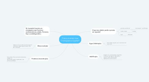 Mind Map: Como montar meu Cronograma Capilar?