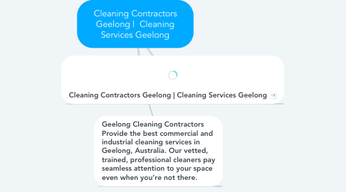 Mind Map: Cleaning Contractors Geelong |  Cleaning Services Geelong