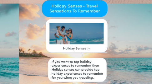 Mind Map: Holiday Senses - Travel Sensations To Remember