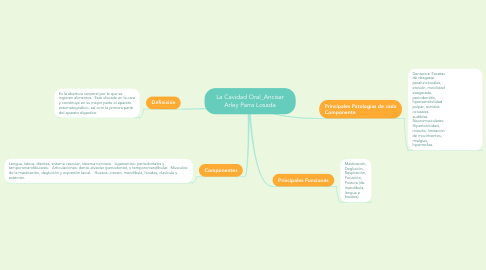 Mind Map: La Cavidad Oral_Ancisar Arley Parra Losada