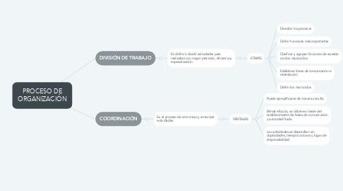 Mind Map: PROCESO DE ORGANIZACIÓN