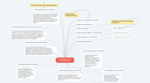 Mind Map: FUNDAMENTOS DE LA ORGANIZACIÓN