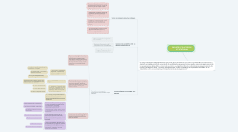 Mind Map: RIESGOS ESTRATEGÍCOS REPUTACIONAL