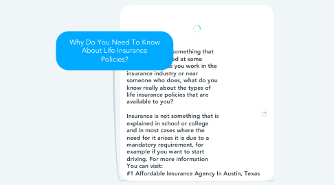Mind Map: Why Do You Need To Know About Life Insurance Policies?