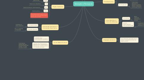 Mind Map: Sensação e Percepção