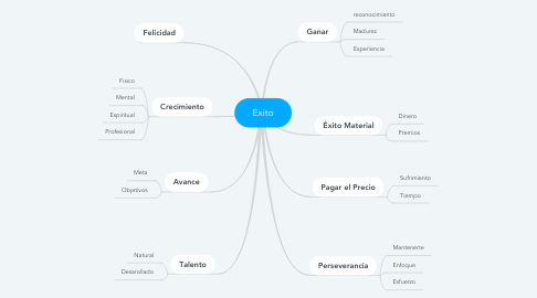 Mind Map: Exito