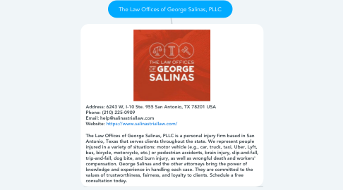 Mind Map: The Law Offices of George Salinas, PLLC