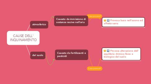 Mind Map: CAUSE DELL' INQUINAMENTO