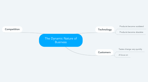 Mind Map: The Dynamic Nature of Business