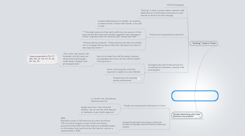 Mind Map: Affects of Internet on Youth of United States