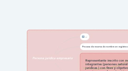 Mind Map: Persona jurídica empresaria