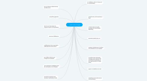 Mind Map: community manager