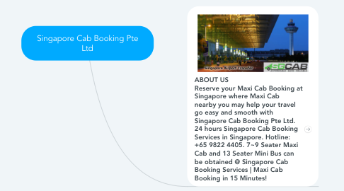 Mind Map: Singapore Cab Booking Pte Ltd