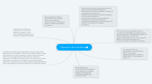 Mind Map: Planeación de la Auditoria