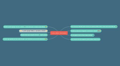 Mind Map: Como utilizar mindmeister