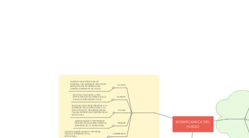 Mind Map: BIOMECANICA DEL HUESO