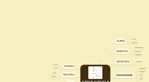 Mind Map: WYBRANE HORMONY: