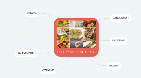 Mind Map: I SEI PRINCIPI NUTRITIVI