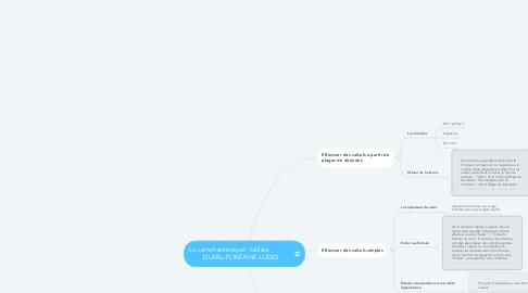 Mind Map: La carte heuristique : tableur               DUVAL-FONTAINE-LUDES
