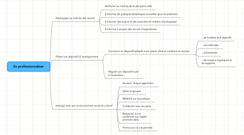 Mind Map: Se professionnaliser