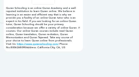 Mind Map: Quran Schooling