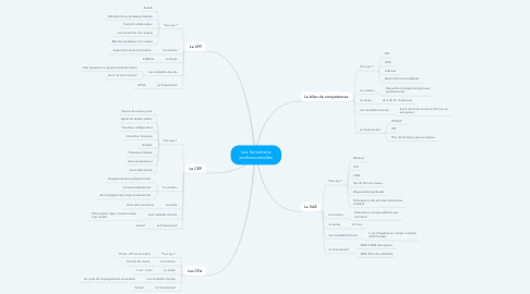 Mind Map: Les formations professionnelles