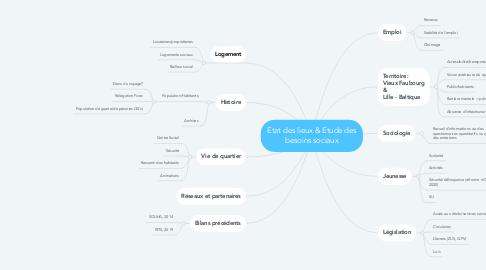 Mind Map: Etat des lieux & Etude des besoins sociaux