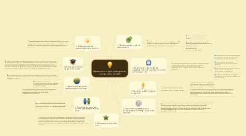 Mind Map: Памятка со структурой уроков, основанных на СДП