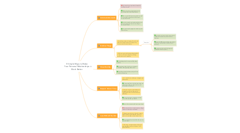 Mind Map: 5 Simple Ways to Make Your Personal Relationships Work Better
