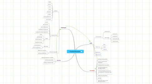 Mind Map: Practical Placements