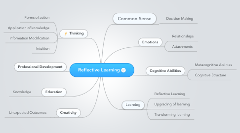 Mind Map: Reflective Learning