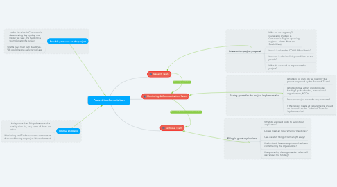 Mind Map: Project implementation