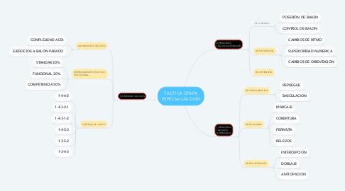 Mind Map: TACTICA ETAPA ESPECIALIZACION