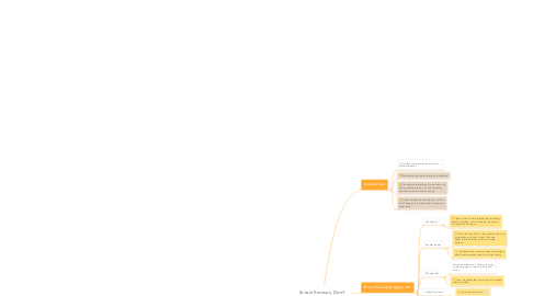 Mind Map: Screw Excuses, Don't Overthink, and Act — A Recipe to End Inaction
