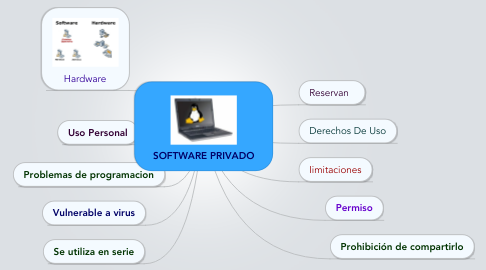Mind Map: SOFTWARE PRIVADO
