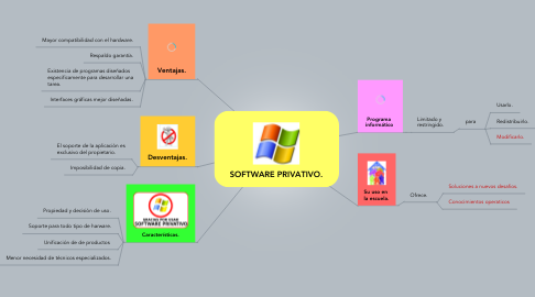 Mind Map: SOFTWARE PRIVATIVO.