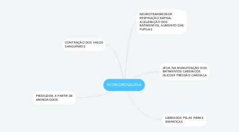 Mind Map: NORADRENALINA