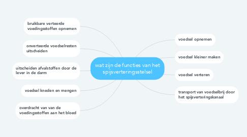 Mind Map: wat zijn de functies van het spijsverteringsstelsel