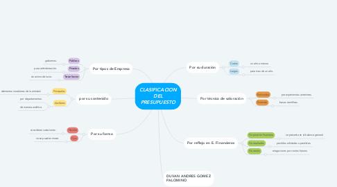 Mind Map: CLASIFICACION DEL PRESUPUESTO