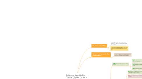 """Mind Map: To Become Super-Likable, Practice """"The Ben Franklin Effect"""""""