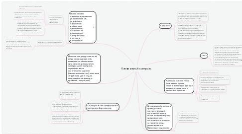 Mind Map: Камеральный контроль