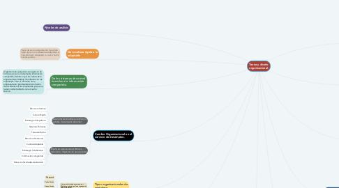 Mind Map: Teoría y diseño organizacional.