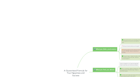 Mind Map: A Guaranteed Formula for True Happiness and Success